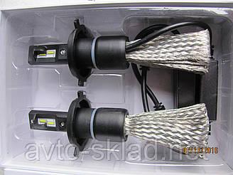 Светодиодные лампы H4 SUPER LED 12-24V 6500/3200 lm с диодоми OSRAM