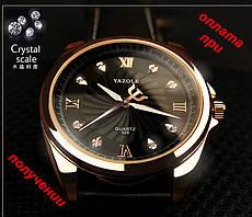 Чоловічі нові кварцові, брендові, стильні годинники YAZOLE 325 НОВИНКА!