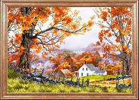 Схема для вышивки бисером Деревенская осень