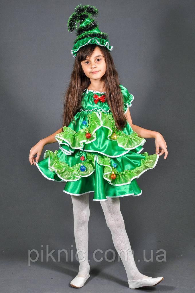 Карнавальный костюм Елочка Елка для девочки. Детский новогодний маскарадный костюм
