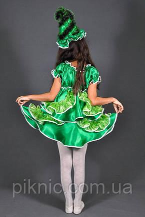 Карнавальный костюм Елочка Елка для девочки. Детский новогодний маскарадный костюм, фото 2
