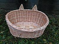 Плетеный лежак для животных