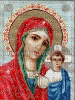 Набор для вышивки крестом Икона Казанской Божией Матери