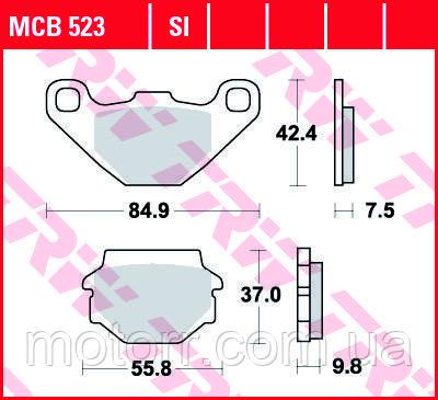Тормозные колодки TRW / LUCAS MCB523