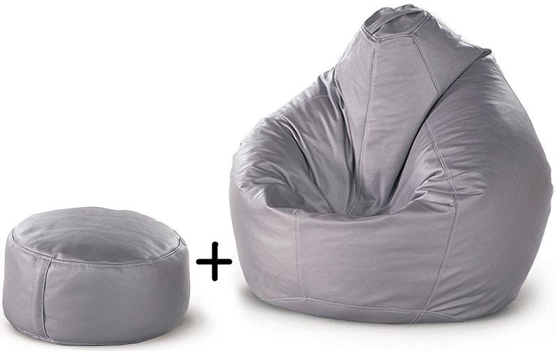 Кресло-груша + пуф-цилиндр FAT BOY