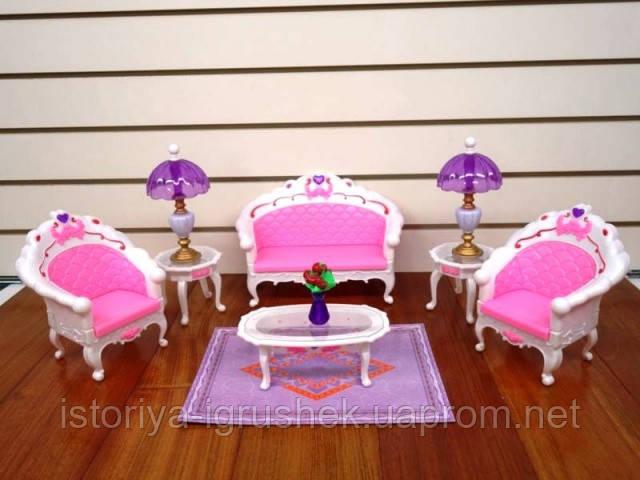 Кукольная мебель Глория Gloria 2604 самая красивая Гостинная
