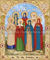 Схема для вышивки бисером иконы Святые жены мироносицы