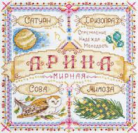 """Набор для вышивки крестом """"Panna"""" Именной оберег. Арина СО-1719"""