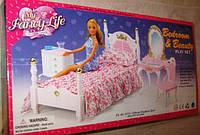 Кукольная мебель Глория 2319 Gloria / My Fancy Life Спальня с комодом и зеркалом