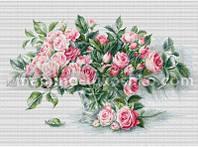 Набор для вышивки крестом Букет чайных роз