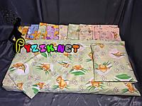 Постельный набор в детскую кроватку (3 предмета) Мишки Соты Зеленый