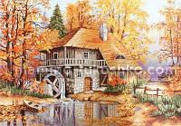 Набор для вышивки гобелена Осенний пейзаж