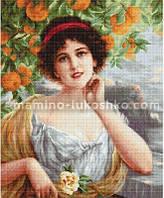 Набор для вышивки гобелена Красавица под апельсиновым деревом