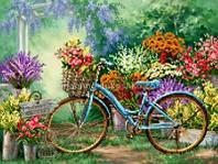Схема для вышивки бисером Выставка цветов
