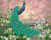 Схема для вышивки бисером Райский сад