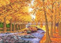 Схема для вышивки бисером Осенний лес
