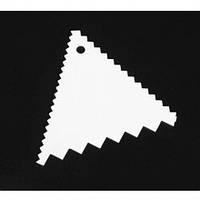 Скребок кондитерский для мастики треугольный