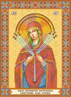 Схема для вышивки бисером Икона Богородицы Семистрельная