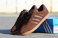 Мужские кроссовки Adidas Hamburg/ кроссовки мужские Адидас Гамбург весна-осень, коричневые, очень удобные