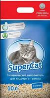 Наполнитель для кошек SUPER CAT Супер кет стандарт, 3 кг (синий)