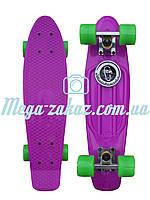Скейтборд/скейт Penny Board (Пенни борд фиш) Fishskateboards: фиолетовый, до 80кг
