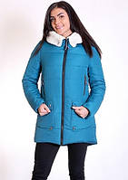 Молодежная куртка Канада с искусственным мехом барашек