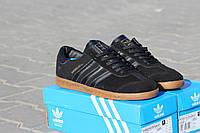 Мужские кроссовки Adidas Hamburg/ кроссовки мужские Адидас Гамбург весна-осень, черные, очень удобные