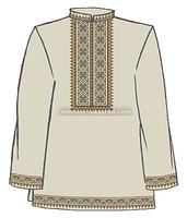 Сорочка мужская под вышивку крестом