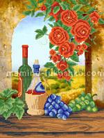 Схема для вышивки бисером Вино из Тосканы