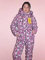 """Детская одежда.   Зимний костюм """"Цветочек-17""""(сирень), фото 1"""