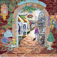 Схема для вышивки бисером Цветочный двор