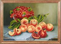 Схема для вышивки бисером Персики со смородиной