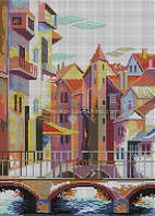 Схема для вышивки бисером Старый город