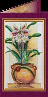 Набор для вышивки бисером открытка Цветы в подарок-1