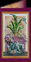 Набор для вышивки бисером открытка Цветы в подарок-2