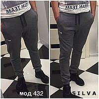 Мужские тёплые штаны Nike!! .ткань трехнить на флисе, цвет тлько такой, фото реал супер качество нн1 № 432