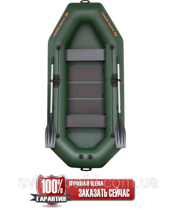 Надувная лодка Kolibri К-280Т гребная двухместная, со слань-ковриком