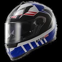 Шлем интеграл LS2 FF322 VOLTAGE WHITE BLUE