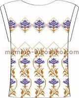 Блузка женская с треугольным вырезом под вышивку бисером и крестом