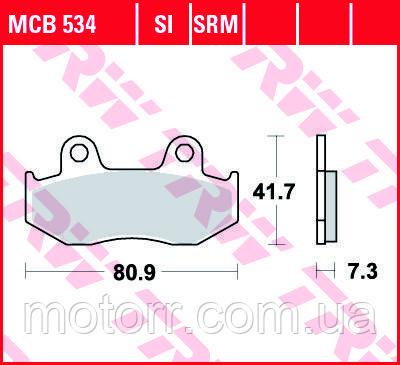 Тормозные колодки TRW / LUCAS MCB534