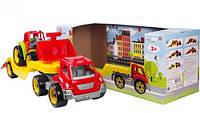 Машинка игрушка Автовоз с трактором 3916