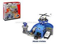 Набор машинок, полицейский гараж в кор PT 2065