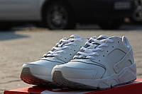 Мужские кроссовки Nike Huarache/ кроссовки мужские Найк Хуараче осень-зима, пресс кожа, белые, стильные