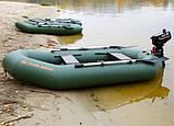 Надувная лодка Kolibri К-250Т гребная двухместная, со слань-ковриком, фото 3