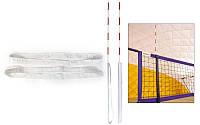 Кишені для антен волейбольних UR SO-5261 (стандарт FIVB, прогумована тканина, в компл. 2шт, білий)