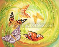 Схема для вышивки бисером Хоровод бабочек
