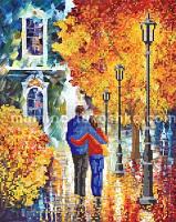 Схема для вышивки бисером Влюбленные в осень