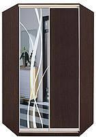 Шафа-купе кутовий ДСП/Дзеркало з малюнком піскоструй ТМ Матролюкс, фото 1