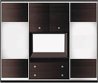 ШКАФ-КУПЕ для гостинной №2 с фасадами из ДСП или зеркала + 2 двери распашные ДСП ТМ Матролюкс