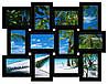 Деревянная мультирамка на 12 фото Классика 12, черная